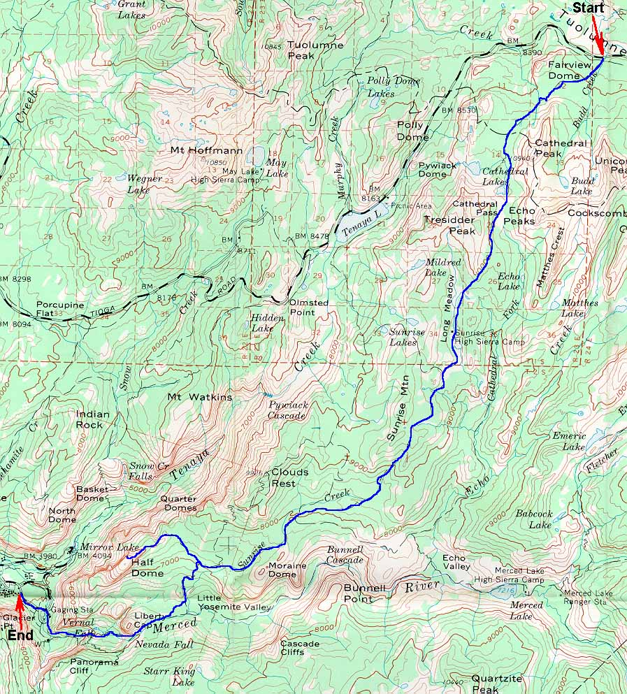 yosemite half dome trail map with Hadome on Hadome together with Yosemite National Park Map likewise Illilouette Fall Springtime l also Yosemite Valley Free Shuttle Bus furthermore 5 Ways To Attract Bears.