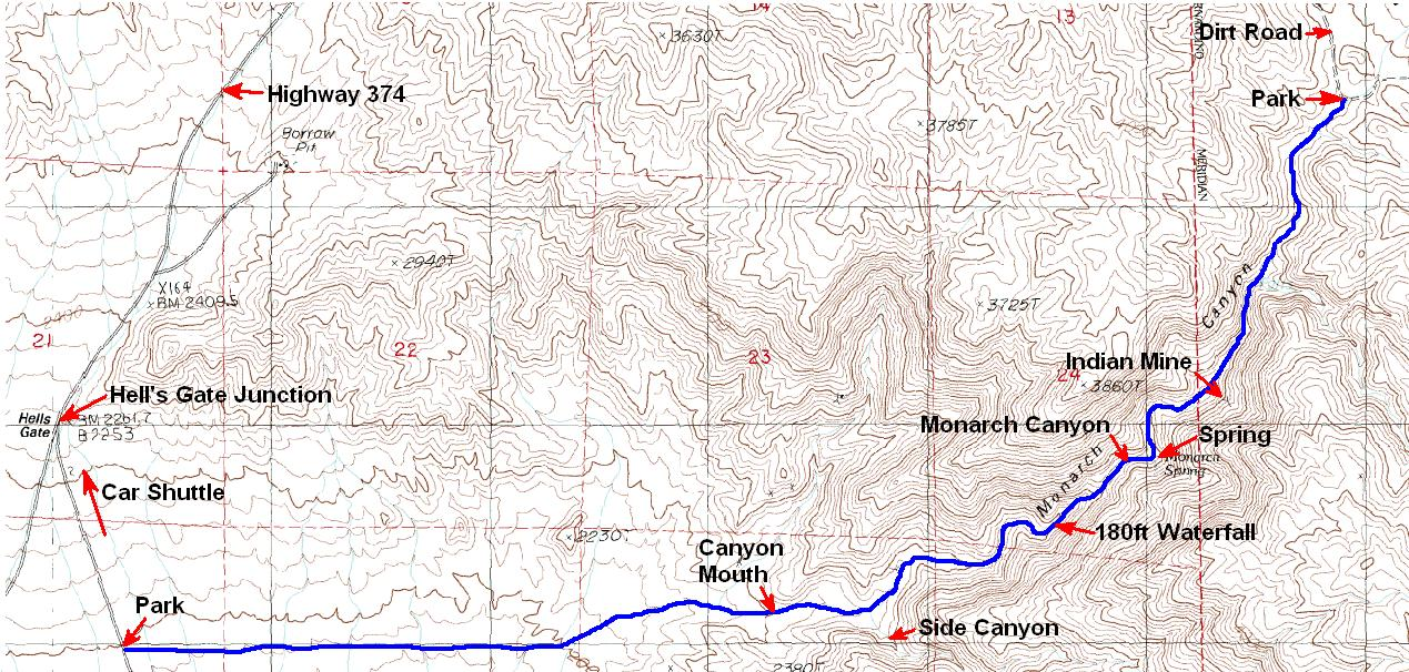 Monarch Canyon Death Valley Map