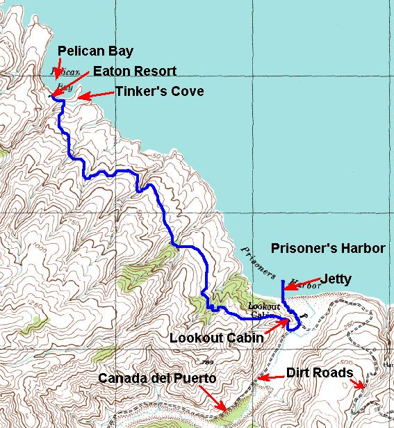 Pelican Bay Santa Cruz Island Map
